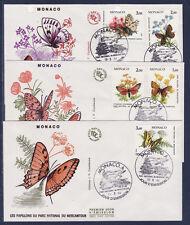 MONACO   enveloppe 1er jour  papillons  et fleurs    1984