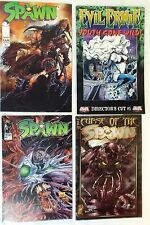 Spawn Fan Edition #1, #49, Curse of Spawn #1 and Evil Ernie Director's Cut #1 Nm