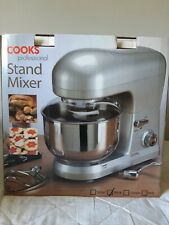 Cooks Professional Food Stand Mixer Whisk Dough Hook Beater 5L Bowl 800W