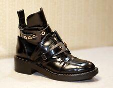 1500$ BALENCIAGA Ceinture black grey cut out ankle boots sz 39 uk 6-6.5 us 8-8.5