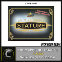2019-20 UPPER DECK STATURE HOCKEY 12 BOX FULL CASE BREAK #H849 - PICK YOUR TEAM