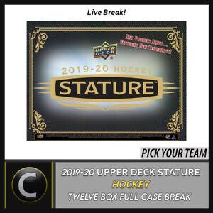 2019-20 UPPER DECK STATURE HOCKEY 12 BOX FULL CASE BREAK #H974 - PICK YOUR TEAM