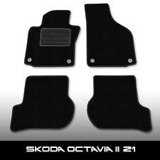 Fußmatten Skoda Octavia 2 Z1 (2004-2014) Schwarz Autoteppiche nadelfilz 4tlg