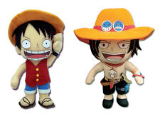 NEW Set of 2 Great Eastern One Piece - Monkey D. Luffy & Portgas D. Ace Plushes