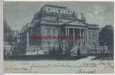 (94823) AK Wiesbaden, Theater, Mondscheinkarte 1899