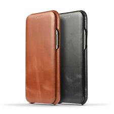 NOVADA Genuine Leather Flip Case Cover for iPhone 11, 11 Pro & Max
