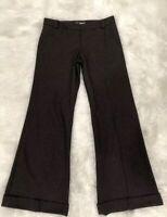Burberry Womens Dress Career Pants Brown Wool Blend Italy Trousers Career 2