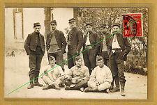 Cpa Carte Photo 106e RI infanterie Camps de Châlons Mourmelon le Grand m010