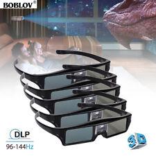 5pcs Boblov 3d Dlp-link 144hz Active Shutter Glasses Movie for Sharp Projector