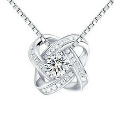 18K Gold Plated CZ Oval Wedding Twist Elegant Pendant for Women Jewelry Gifts