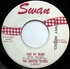 THE JOHNSON SISTERS Girl Group POPCORN 45 Take My Heart / Should I Believe F2104