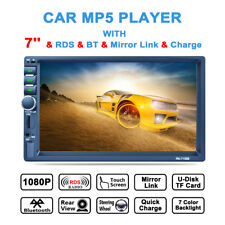 7'' Double 2DIN Touch Screen MP5 MP3 Player Bluetooth Radio Stereo SD Card AUX