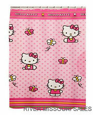 "Hello Kitty & Butterfly Friends Fabric Shower Curtain, Polyester 72"" x 70""-NEW"