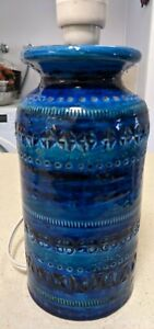Vintage Bitossi Rimini Blue Lamp (No shade)