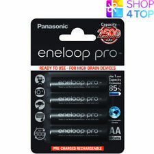 4 Panasonic Eneloop Pro Rechargeable AA Hr6 Batteries Slider 2500mah 1.2v