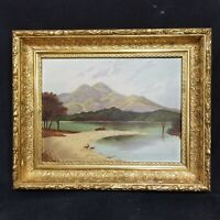 19th Century Hudson River School Oil Painting On Academy Board  *Appraised*