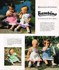 PUBLICITE ADVERTISING 074  1977  BAMBINO   vetements enfants