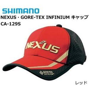 SHIMANO NEXUS GORE-TEX INFINIUM Fishing Cap CA-129S Red Free size Japan NEW