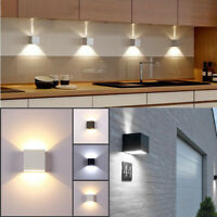 Modern COB LED Wall Light Up Down Cube Indoor Outdoor Sconce Lighting Lamp 12W