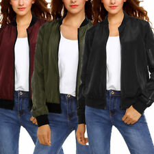 Polyester Casual Autumn Solid Coats & Jackets for Women