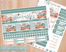 November Monthly View planner sticker kit for Erin Condren / similar planners