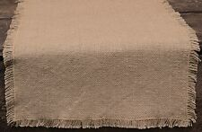 Primitive Country Burlap Table Runner 13X36 Tan Thin Light-Weight Cotton