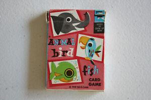 ANIMAL BIRD FISH - ED-U-CARDS - EDUCATIONAL CARD GAME - FLIP MOVIE BACKS
