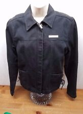 Women's Harley-Davidson Denim Jacket, Size Small, Black Draw String Excellent #2