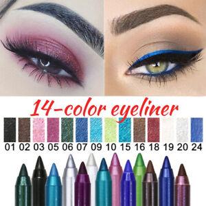 14 Colors Eyeliner Pen Set DNM Eye Shadow Pencil Shimmer Pen Waterproof Makeup