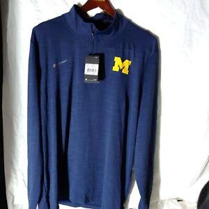 NWT Michigan Nike 1/4 Zip Intensity Pullover Men's Size 2XL