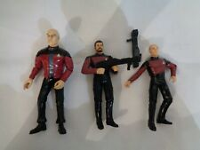 Star Trek figures collectable  15cm tall 1997 1995 - set of 3