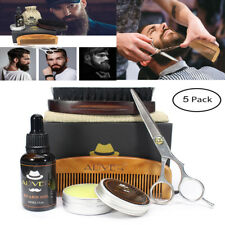 MEN Beard Grooming Trimming Kit Brush Comb For Styling Shaping Growth Gift Set