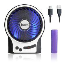 Mini Portable Wireless Rechargeable Battery 3 Mode Wind Speed Desk Cooling Fan