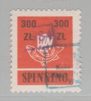 Poland Fishing license Fiscal Revenue Stamp 2-2-21-8f