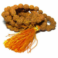 RUDRAKSHA MALA HOLY HINDU 108+1 BEADS ROSARY MALA 6 MM SIZE NECKLACE ENERGIZED