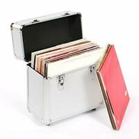 Neo 12'' Inch LP 50 Vinyl Record Aluminium Flight Case DJ Silver Storage Box NEW