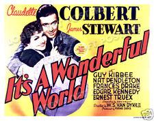 IT'S A WONDERFUL WORLD LOBBY TITLE CARD POSTER 1939 JAMES STEWART