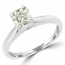 1 CT SI2 RADIANT DIAMOND SOLITAIRE ENGAGEMENT RING 18K WHITE GOLD