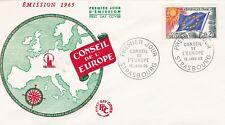 FRANCE 1965 FDC CONSEIL DE L'EUROPE  YT SERVICE 24