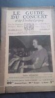 Revista Le Guía de La Concierto Y Las Sketches Letra 1930 N º 11 12 13