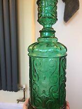 Vintage Retro Empoli? Italian Green Glass Decanter/bottle