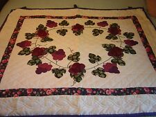 "LANCASTER , PA AMISH  ""COUNTRY GRAPES"" WALLHANGING QUILT 46 1/2""- 41 1/2"""