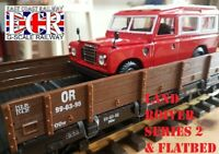 NEW G SCALE FLATBED & LAND ROVER 1:24 DIE-CAST  RAILWAY 45mm GAUGE TRAIN AS LGB