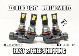 Factory Fit LED Headlight Bulb for Infiniti QX4 High & Low Beam 2001-2003 x4