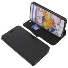 Funda para ONEPLUS 3t SMARTPHONE Book Style protectoras Móviles Libro Negro