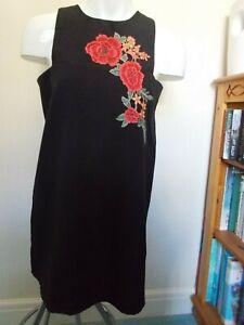 BOOHOO LADIES SIZE 12 BLACK DRESS NWOT