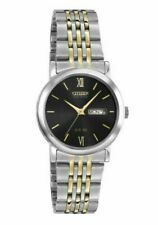 Citizen Eco-Drive Men's Corso Black Dial Two-Tone Band 37mm Watch BM8364-51E