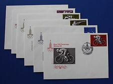Russia (B67-B72) 1977 22nd Olympic Games, Moscow FDC set