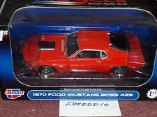 1st GEAR 1970 FORD MUSTANG BOSS 429 ORANGE 1/25 CARQUEST AUTO PARTS
