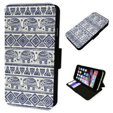 Aztec Elephant Pattern - Flip Phone Case Wallet Cover Fits Iphone 6 7 8 X 11